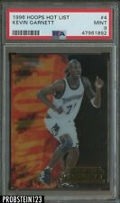 1996-97 NBA Hoops Hot List #4 Kevin Garnett Minnesota Timberwolves PSA 9 MINT