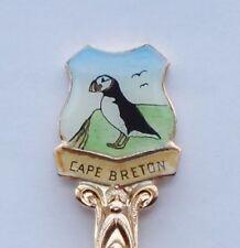Collector Souvenir Spoon Canada Nova Scotia Cape Breton Cabot Trail Puffin