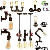 Vintage Industrial Style Steampunk pipe Lighting Wall Table Pendant Light Fixtur