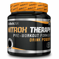 BIOTECH USA Nitrox Therapy preworkout 340gr gusto MIRTILLO ROSSO