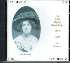THE FIRST OPERA RECORDINGS 1895-1902 A SURVEY - SYMPOSIUM - SEALED