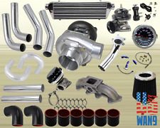 94-02 Accord/Acura Cl T3/T4 Turbocharger Turbo Kit Black+Manifold+Bov+Wg+Gauge