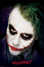 HEATH LEDGER JOKER MOVIE POSTER (61x91cm) WHY SO SERIOUS? NEW LICENSED
