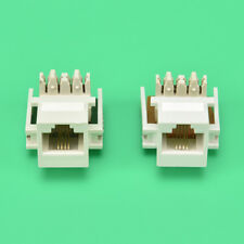 2PCS White RJ11 6P4C Headset Telephone Module Keystone Jack Socket Phone module<