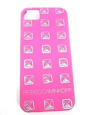 REBECCA MINKOFF, I PHONE PYRAMID STUD CASE, PINK, NEW WITH ORIGINAL BOX