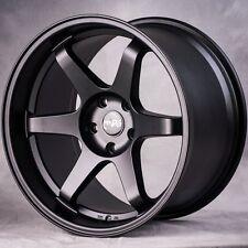 18x8.5 Miro 398 5x114.3 +35  Matte Black Wheels (Set of 4)
