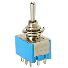 3PDT Mini Toggle Switch Center Off
