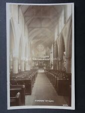 Nottingham ST BARNABAS CHURCH INTERIOR Sunbeams through Window c1908 RP Postcard
