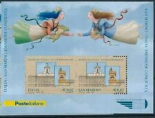 1 FOGLIO CON 2 FRANCOBOLLI ITALIA SAN MARINO DA 0,62 EURO NUOVO 2006 MNH