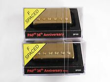 DiMarzio F-Spaced PAF 36th Anniversary Neck & Bridge Set W/Gold Covers