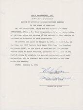 SIGNED  1981 NEIL SIMON & MARSHA MASON LEGAL DOCUMENT RARE!