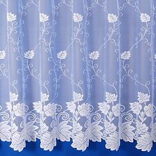 Vermont Premium Quality Scalloped Net Curtain - Sold By The Metre - In White
