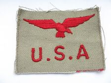 2ww   bird  over U,S,A ,  cloth royal air force  shoulder title red on khaki
