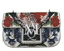 ALEXANDER MCQUEEN Grained Calfskin Flower Small Flap Shoulder Bag