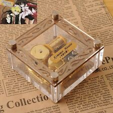 ACRYLIC CUBIC GOLD WIND UP MUSIC BOX : PANDORA HEARTS LACIE