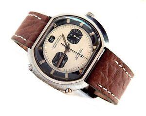 Vintage Watch HAMILTON Automatic Chrono-Matic Fontainebleau Panda Buren 11