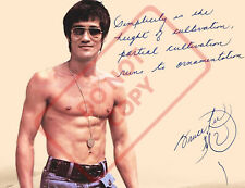 8.5x11 Autographed Signed Reprint RP Photo Bruce Lee Quote