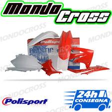 Kit plastiche cross mx POLISPORT Rosso Bianco HONDA CRF 450 R 2012 (12)!