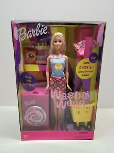 RARE NEW 2000 Barbie Wash 'n Wear Doll, Color-Change Clothes Laundry