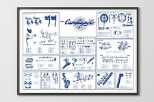 1973 Campagnolo Record / Nuovo Record groupset vintage reproduction poster