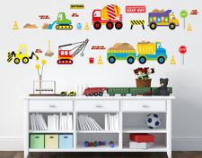 Boys Transportation Car Truck Digger Bulldozer Wall Sticker Decal Nursery Decor