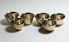 Set of six Arabic Egyptian Coffee cups Dallah solid silver 900 grade beakers