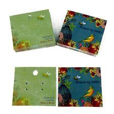 50-Orecchino CARD Bird Design Gioielli schede video e borse Inc