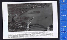 Hell Gate Railroad Bridge connecting New England & South - 1923 Historial Print