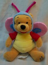 """Disney Store Easter WINNIE THE POOH IN BUTTERFLY COSTUME 6"""" Plush STUFFED ANIMAL"""