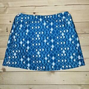 Women's Slazenger Golf Skort Size Medium Teal Geometric Print Skirt