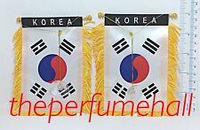 Korea Flag Korean Flag Mini Banner Car rear view mirror glass window