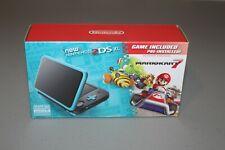 Nintendo 2DS XL Black & Turquoise w/ Mario Kart 7 Installed! BRAND NEW!