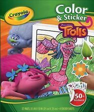 Crayola TROLLS Childrens Colour & Sticker Activity 32 Page Colouring Book