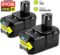 Batterie pour Ryobi 5,5Ah 18V Li-Ion ONE Plus P104 P105 P102 P103 P107  Pack x2