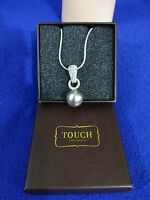 SILVER PEARL NECKLACE WITH RHINESTONES NWT
