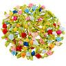100pcs Ribbon Rose DIY Wedding Flower Satin Decor Appliques Sewing Craft Leaves