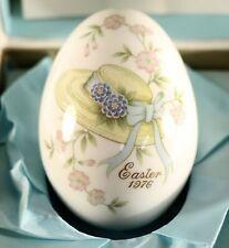1976 Noritake Bone China Japan. Easter Egg ~Easter Bonnet~With Box.