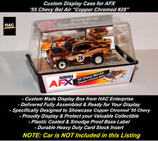 "Custom Display Case : AFX  '55 Chevy Bel Air ""COPPER CHROME #28"""