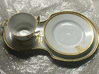 Vintage D & C France Limoges L. Gold and White Tea Set hostess