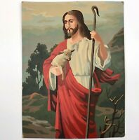 VTG Paint by Number PBN ART Painting JESUS CHRIST the Good Shepherd 12x16