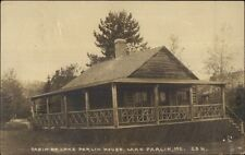Cabin at Lake Parlin House ME c1920 Real Photo Postcard