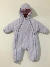 Kiaba Bebe Hooded Bunting Snowsuit Pale Lilac Size 12M