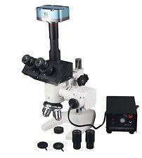 1200x Trinocular Metallurgy Microscope w 5Mp USB Camera & Measuring Software