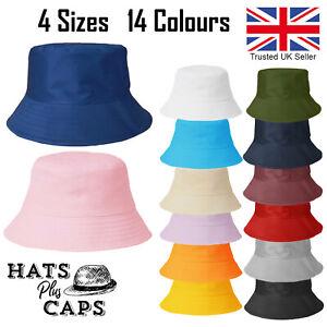 Cotton Bucket Hat Summer Sun Festival Bush Men Woman 4 Sizes Premium Quality