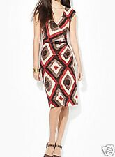"*NWT* $155 ""LAUREN"" By Ralph Lauren-Jersey Surplice Dress/Graphic Print! SZ-M"