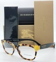 NEW Burberry RX frame BE2277 3741 51mm Black Tortoise 2277 Vintage London Cateye