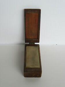 Vintage / Antique Wood Box Case Knife Sharpening Stone