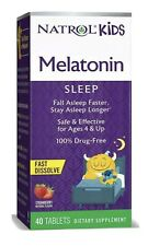 Natrol Kids Melatonin Fast Dissolve Sleep Support Strawberry 40 Tablets