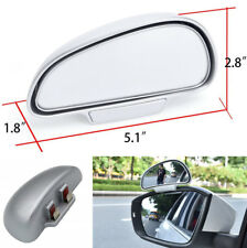 Einstellbare Weitwinkel Auto Rückansicht Blinden Fleck Spiegel Silber Universal