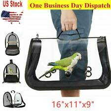 """Bird Travel Carrier Transport Cage Breathable Parrot Go Out Backpack 16""""x11""""x9"""""""